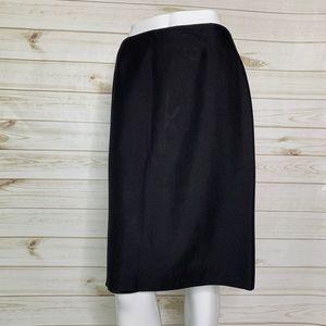 Black pencil skirt by Dana Buchman with flaw